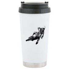 Grooving it on a dirt bike Ceramic Travel Mug