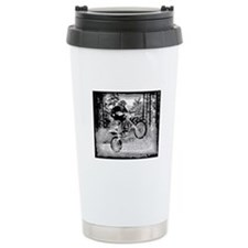Fun in the woods dirt biking Ceramic Travel Mug