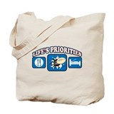 Life's Priorities Rugby Tote Bag
