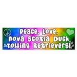 Hippie Duck Toller Bumper Bumper Sticker