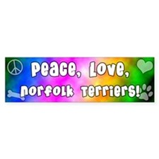 Hippie Norfolk Terrier Bumper Bumper Sticker