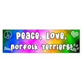 Hippie Norfolk Terrier Bumper Bumper Stickers