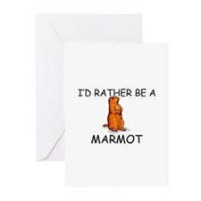 I'd Rather Be A Marmot Greeting Cards (Pk of 10)