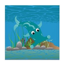 Aqua Hammie Fish Tile Coaster