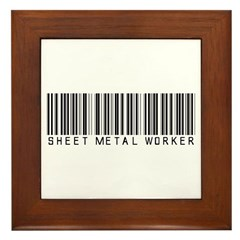 Sheet Metal Worker Barcode Framed Tile