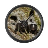 Skunk Large Wall Clock