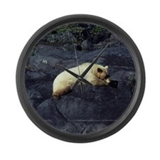 Spirit Bear Large Wall Clock