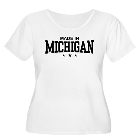 Made in Michigan Women's Plus Size Scoop Neck T-Sh