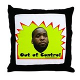"""Out of Control"" Throw Pillow"