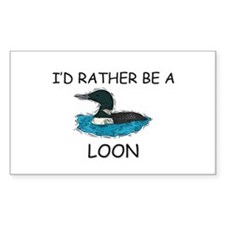 I'd Rather Be A Loon Rectangle Decal