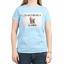 I'd Rather Be A Llama T-Shirt