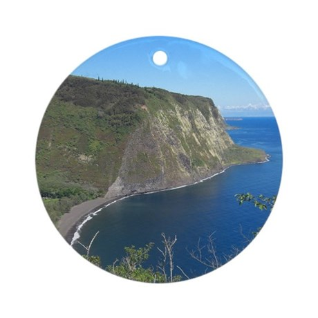 Waipio Valley Ornament (Round)