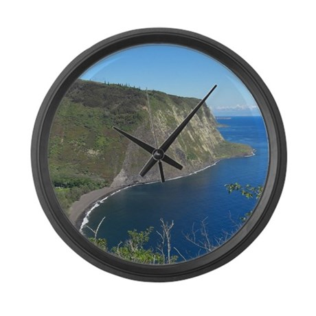 Waipio Valley Large Wall Clock