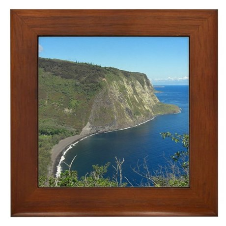 Waipio Valley Framed Tile