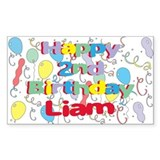 Liam's 2nd Birthday Rectangle Decal