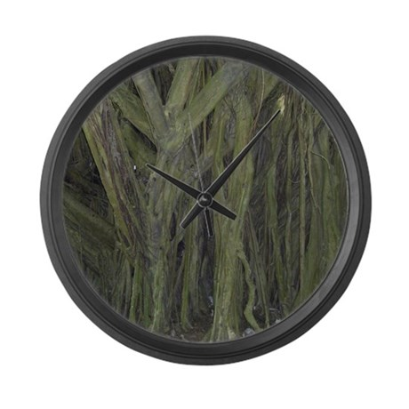 Old Banyan Tree Large Wall Clock