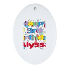 Alyssa's 3rd Birthday Oval Ornament