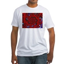 """Red 11"" Fractal Art Shirt"