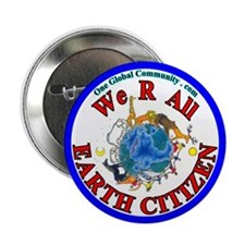 """WE R ALL Earth Citizen 2.25"""" Button (10 pack)"""