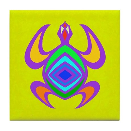 Turtle Symmetry Color Tile Coaster