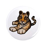 "Laying Tiger 3.5"" Button (100 pack)"