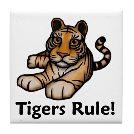 Tigers Rule! Tile Coaster