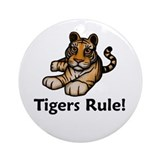 Tigers Rule! Ornament (Round)