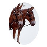Classic Mule Team Oval Ornament