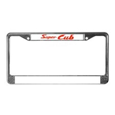 Super Cub License Plate Frame