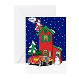 A Hot Rod For Christmas Greeting Cards (Pk of 20)