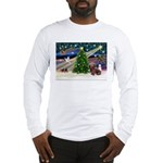 XmasMagic/Dachshund (Wire) Long Sleeve T-Shirt