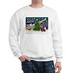 XmasMagic/Dachshund (Wire) Sweatshirt