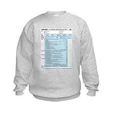 1040-DOG Income Tax Sweatshirt