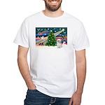 XmasMagic/Shih Tzu (P) White T-Shirt