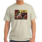 Santa's Yorkie (#11) Light T-Shirt