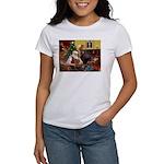 Santa's Yorkie (#11) Women's T-Shirt