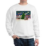 XmasMagic/2 Yorkies Sweatshirt