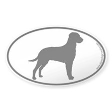 Curly SILHOUETTE Oval Sticker (10 pk)