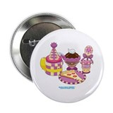 Kawaii Purple Pizza Party 2.25&quot; Button