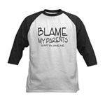 BLAME MY PARENTS Kids Baseball Jersey