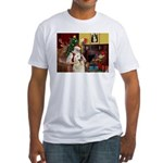 Santa's Great Pyrenees Fitted T-Shirt