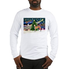 XmasMagic/Greyhound (rd) Long Sleeve T-Shirt