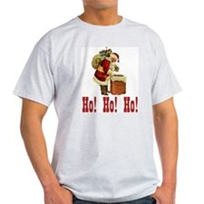 Ho! Ho! Ho! Christmas Ash Grey T-Shirt