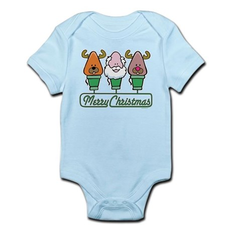 MERRY CHRISTMAS Light Trio Infant Bodysuit