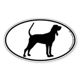 Black and Tan SILHOUETTE Oval Decal