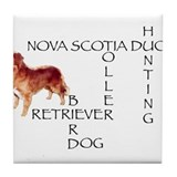 Duck toller crossword Puzzle Tile Coaster