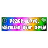 Hippie Karelian Bear Dog Bumper Car Sticker