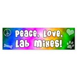 Hippie Lab Mix Bumper Bumper Sticker