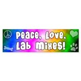 Hippie Lab Mix Bumper Car Sticker