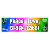 Hippie Black Lab Bumper Bumper Sticker